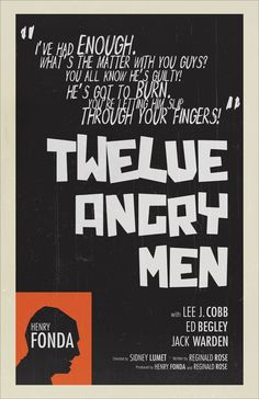 """""""12 Angry Men"""" Movie Poster Design by Richee Chang, via Behance"""