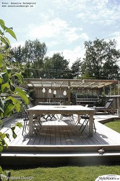 Wood Patio / Deck - Home of Anneliesdesign Though old within idea, the pergola may Getaway Cabins, Outdoor Spaces, Outdoor Decor, Wood Patio, Glass Roof, Pergola Designs, Garden Planning, Outdoor Furniture Sets, Interior Design