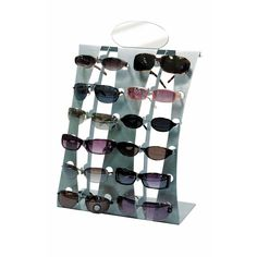 BLACK WOODEN TRIANGLE SUNGLASS DISPLAY SPINNING RACK counter wood 18 pair new