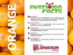 Nutritional Facts - Foods are not just meant for taste, there are many nutritional and medicinal benefits in every food. Let us Know what we eat and reason behind having it.  Follow us on Google+ - /+Srijanakiramhotels ‪#‎Srijanakiram‬ ‪#‎Nurition‬ ‪#‎Facts‬ ‪#‎Orange‬