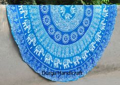 "Round Hippie Tapestry Beach Throw Roundie Elephant Mandala Yoga Mat Bohemian 72"" #Handmade #Traditional #BeachThrowYogaMatTableCoverWallHanging"