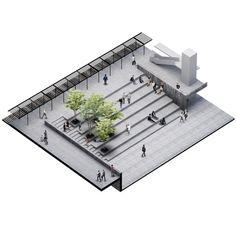 Landscape Architecture Model Making in Landscape Gardening Courses Lincolnshire . - Landscape Architecture Model Making in Landscape Gardening Courses Lincolnshire … – Landscape - Plans Architecture, Landscape Architecture Design, Architecture Graphics, Architecture Diagrams, Landscape Stairs, Landscape Plans, Urban Landscape, Urban Planning, How To Plan