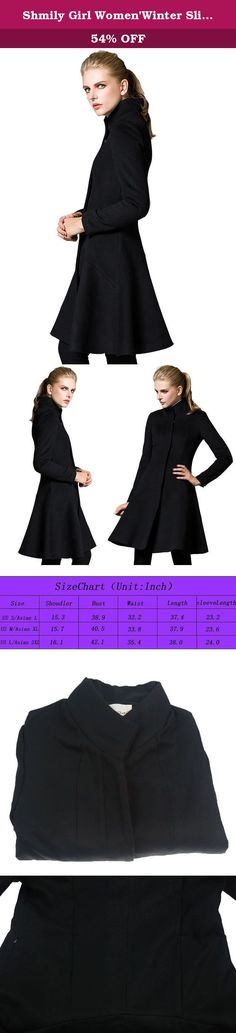 Shmily Girl Women'Winter Slim Collar Woolen Coat Jacket (Medium, Black). Warm Note:pls choose US size directly ,our products are made in China and labeled in Asian Size, and we have changed Asain Size into US Size if you order US size S ,you will receive Asian size L(because it was labeled in Asian size ),if you order US size M ,you will receive Asian size XL (because it was labeled in Asian size ) ,if you order US size L,you will receive Asian size XXL (because it was labeled in Asian…