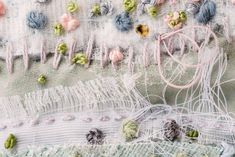 My work is a mixture of textiles and ceramics. I am inspired by surface and the build up of layers, i like to create these in clay and stitch. Handmade Crafts, Diy And Crafts, White Picture Frames, Textiles, Sewing Art, Textile Artists, Fabric Art, Spring Flowers, Mixed Media Art