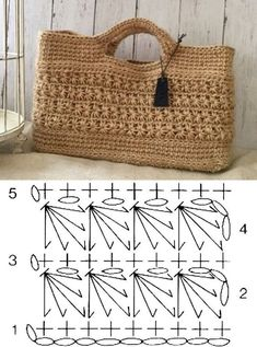 Choose and copy: 18 Summer Bag models Bag Facing the Sea Select and copy: 18 Crochet Summer Bags and Graphics Crochet Clutch Bags, Crochet Tote, Crochet Handbags, Crochet Purses, Free Crochet, Crochet Bag Tutorials, Diy Crafts Crochet, Crochet Stitches Patterns, Purse Patterns