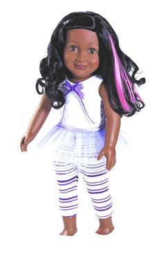 Kayla an 18 inch Black Doll with a beautiful smile! #dolls