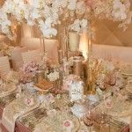 Pink and Champaign Wedding Tablescape