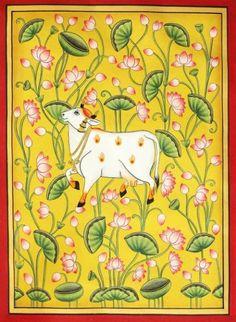 Pichwai Paintings, Indian Art Paintings, Modern Art Paintings, Madhubani Art, Madhubani Painting, Ganesha Painting, Hand Painting Art, Indian Traditional Paintings, Kalamkari Painting