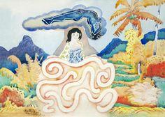 Walter Battiss Walter Battiss, Moorea Tahiti, African Art, Painters, Night, Africa Art, African Artwork, Afro Art