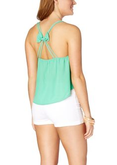 Strappy Bow Chiffon Tank | Going Out | rue21