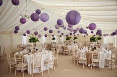 purple and green wedding decorations - Google Search