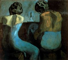 rerylikes:    Pablo Picasso.Prostitutes in a Bar, 1902  (vianyahsu5656)  see morePicasso's Blue Period&Red Period