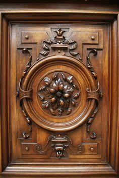 Exceptional walnut monumental renaissance cabinet 19th C.