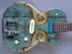 "gate guitar #006 ""Pearly Gates"""