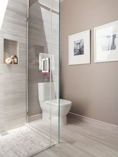 Contemporary Bathroom Design Ideas, Pictures, Remodel and Decor-- seamless tiles Bathroom Blinds, Laundry In Bathroom, Bathroom Renos, Bathroom Interior, Small Bathroom, Budget Bathroom, Bathroom Mirrors, Bathroom Ideas, Neutral Bathroom