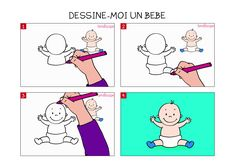 Apprendre à dessiner un bébé en 3 étapes
