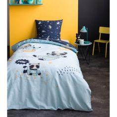 Modré bavlnené posteľné obliečky RACOON Racoon, Comforters, Nova, Blanket, Bed, Creature Comforts, Quilts, Stream Bed, Blankets