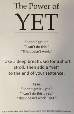 Help kids develop a growth mindset by teaching them the power of yet