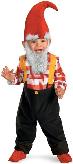 PartyBell.com - Garden Gnome Infant / #Toddler Costume