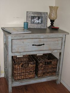 the laundry will wait: My Farmhouse Bedside Table