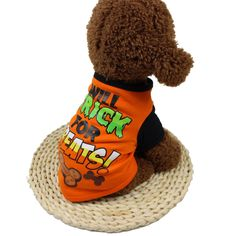 Goddessvan Puppy Halloween Costume Cool Cute Pet T Shirts Clothing for Small/Medium Dog Cat -- Learn more at the picture link. (This is an affiliate link). Puppy Halloween Costumes, Dog Costumes, Halloween Cosplay, Funny Dogs, Cute Dogs, Dog Vest, Medium Dogs, Westies, Little Dogs