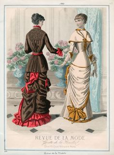 "Fashion Plate extraído de la revista ""Revue de la Mode"" 1880"