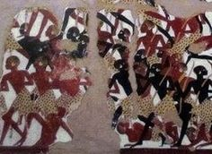 Detail of the Nubians from the Battle of Nubia African Artists, Tree Skirts, Battle, Christmas Tree, Detail, Holiday Decor, Home Decor, Teal Christmas Tree, Decoration Home