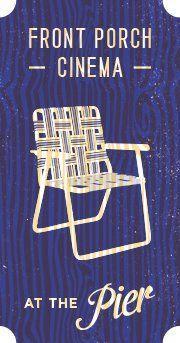 Front Porch Cinema at the Pier in Santa Monica, Los Angeles, California Santa Monica, Cinema Posters, Cinema Cinema, Outdoor Movie Nights, Outdoor Cinema, California Dreamin', Dark Skies, Front Porch, Chair