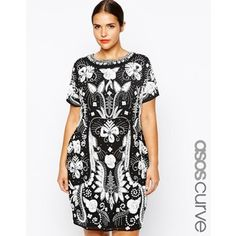 ASOS CURVE RED CARPET Exclusive Heavily Embellished Mono Shift Dress