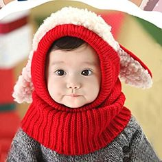 674697ae647 Winhurn 2016 Winter Baby Kids Girls Boys Warm Woolen Coif Hood Scarf Caps  Hats (6