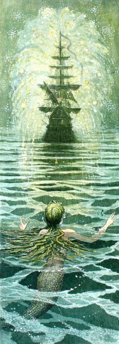 The Little Mermaid. Illustration by Boris Diodorov.