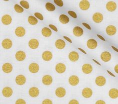 Gold polka dot fitted baby crib sheet
