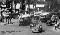 Paris - Autobus - Dans les quartiers centraux, le trafic automobile se développa…