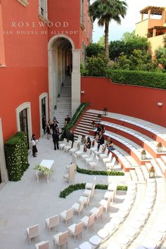 The Amphitheatre Is An Excellent Spot For Intimate Outdoor Ceremony At Rosewood San Miguel De Allende