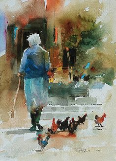 Pictures of Carl Purcell – Carl Purcell watercolor paintings - Art Painting Watercolor Artists, Watercolor Portraits, Watercolor Techniques, Watercolor Landscape, Watercolour Painting, Watercolors, Painting People, Figure Painting, Guache