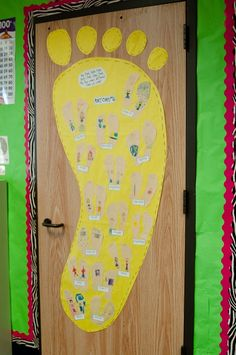 Read foot book by Dr. Seuss....talk about opposites.... have the kids trace their feet and out an opposite on each foot