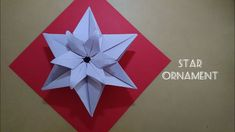 Origami Star Ornament for Christmas 折纸星吊饰 Origami Yoda, Origami Star Box, Origami Ball, Origami Fish, Origami Folding, Origami Stars, Origami Paper, Paper Folding, Origami Design