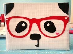 PANDA DUCT TAPE WALLET  (I'm thinking some of our Pearsontown Mama friends might want to Pin this one.) Duct Tape Projects, Duck Tape Crafts, Envelope Design, Envelope Art, Duck Tape Wallet, Mail Art Envelopes, Decorated Envelopes, Tape Art, Happy Mail