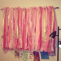 Easy DIY Pink Princess Curtain / Dessert Table Backdrop