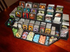 Arkham Horror foamboard display case for cards, tokens, etc.