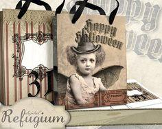 2 Halloween Taschen digital sheets von digitalRefugium auf Etsy, €3.90