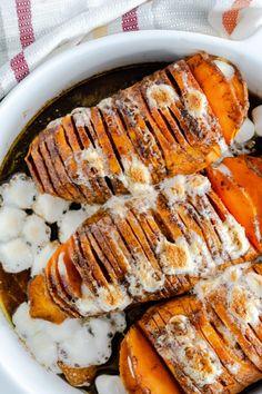 Hasselback Sweet Potato Casserole - Mama Needs Cake