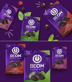 This Chocolate Energy Brand Gets a Reinvigorated Look — The Dieline Mint Dark Chocolate, Chocolate Flavors, Biscuits Packaging, Jar Packaging, Packaging Machine, Toffee Candy, Innovation News, Chocolate Packaging, Deserts