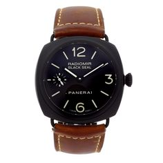 42f74317bcd Panerai RADIOMIR Black Seal 45mm Hand Wound Mechanical Watch - PAM00292 for  sale online