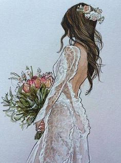Shared by NeسRيNe. Find images and videos about fashion, cute and beautiful on We Heart It - the app to get lost in what you love. Dress Illustration, Fashion Illustration Dresses, Wedding Illustration, Wedding Drawing, Wedding Dress Sketches, Wedding Art, Fashion Design Drawings, Fashion Sketches, Mode Poster