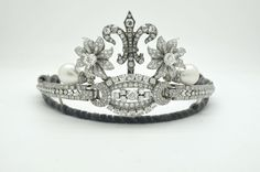 Tiara worn by Princess of Turnovo (in Macedonia) at the Luxembourg royal marriage in 2012, made from a bracelet and other jewels belonging to the royal family of Bulgaria.