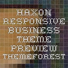 Haxon - Responsive Business Theme Preview - ThemeForest