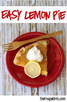 Easy Lemon Pie Recipe from TheFrugalGirls.com