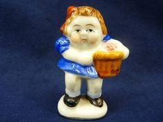 Girl with Basket Occupied Japan Figurine Porcelain 195 | eBay