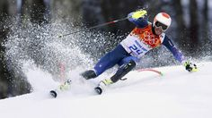 Bode Miller of the U.S. competes in the slalom run of the men's super-combined at the Sochi Winter Olympics.  http://www.mammothmtnchalets.com